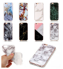 New Granite Marble Stripe Pattern Soft TPU Gel Back Case Cover For Mobile Phones