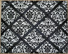 Black and White Damask French Memo Board - 24 x 36, optional cork or magnetic