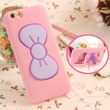 For iPhone 7 7 Plus Case 3D Cartoon Butterfly Bow Slim Silicon Rubber Case For i