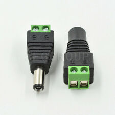 Male Female 2.1x5.5mm DC Power Plug Jack Adapter Wire Connector for CCTV Camera