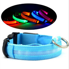 Adjustable Nylon Pet  Safety Dog LED Collar Blinking Night Flashing Light Glow
