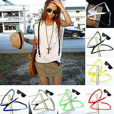 Mens Womens Clip-on Adjustable Elastic Pants Y-back Slim Suspender Belt lot GF