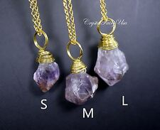 Raw Amethyst Necklace? Rough Amethyst ? Amethyst Crystal ? Amethyst Pendant ? Am
