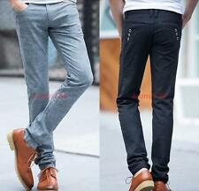 Spring mens linen cotton casual pants black gray trousers 27-38