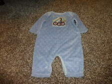 BOUTIQUE 3M 3 MONTHS GIGGLE MOON  BLUE MIXER TRUCK OUTFIT