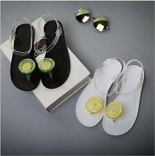 Women Summer Slippers Crystal jelly shoes Flat Sandals Beach Casual Footwear**