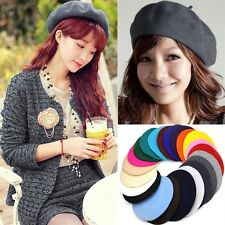 Sweet Womens Warm Wool Beret French Artist Warm Beanie Hat Winter Ski Cap Hat XP