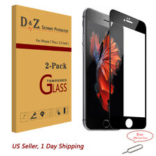 2x For iPhone 8/7/Plus 3D Curved Full Cover Tempered Glass Screen Protector Film