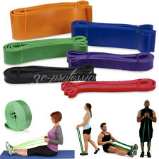Resistance Bands Power Weight Training Fitness Exercise Crossfit Strength Loop