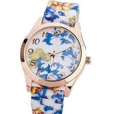 Floral Watch Jelly New Girls Sports Quartz Watches  1Pcs Fashion Women Silicone