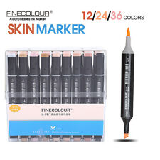 FineColour EF102 Skin Tone Colour Set Sketch Marker Pen Dual Head Markers Set SG