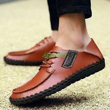 Mens Driving shoes Slip on Loafers Casual Lace Up slipper flat comfy moccasin