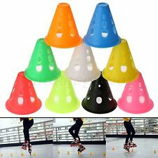 10/20Pc Plastic Skating Slalom Cone Goal Distance Marker Roller Skating Training