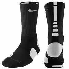 Nike Elite Basketball Socks Crew Black/White High Dri Fit Mens