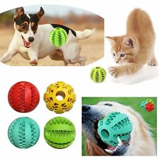 Dental Treat Bite Resistant Teeth Cleaning Chew Ball Dog Training Pet Toy