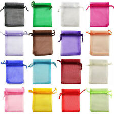 New 100PCS 7x9cm Sheer Organza Wedding Party Favor Gift Candy Bags Jewelry Pouch