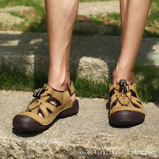 New Mens Sport Leather Sandals Casual Shoes For Fisherman Outdoor beach Sandals