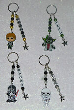 Star Wars Characters Personalised Keyring/Bag Charm. Great Fathers Day Gift.