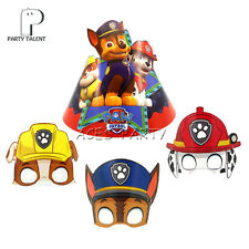 Paw Patrol Theme Birthday Party Chase Dog Marshall Rubble Paper Mask Hats