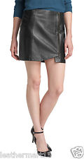 New Womens Mini Designer Skirt Genuine Soft Lambskin Leather Skirt For Women-07