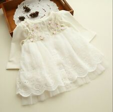 Spring And Autumn Floral Lace Dress For Newborn Baby Girl (0-2 Yrs) UZ0071