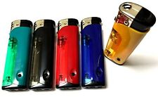 2 x PROF LED TORCH REFILLABLE ELECTRONIC GAS LIGHTERS - You Choose Colour
