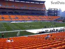 (4) Steelers vs Browns Tickets Steelers Sideline Lower Level 4th Row!!