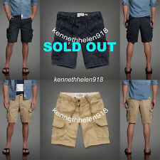 NWT ABERCROMBIE & FITCH MENS CARGO SHORTS KHAKI SIZE 33,34 A&F