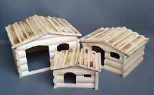 Wooden House for Rodents Cages Hamster Degu Ferret Rabbit Cage Rat Mouse Animal
