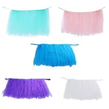 TUTU Tulle Pink Table Skirt Wedding Birthday Decor Party Tableware Baby Shower