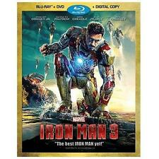 Iron Man 3 (Blu-ray/DVD 2-Disc Set) NO Digital Copy Marvel NO SLIP SLEEVE BIN