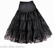 PRETTY KITTY BLACK TUTU 50s ROCKABILLY COCKTAIL PROM SWING PETTICOAT SKIRT 6-20