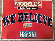 Boston Red Sox We Believe 2007 World Series Boston Herald Double Sided Poster
