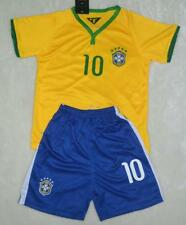 WORLD CUP NO.10 NEYMAR JR BOYS BRAZIL HOME football SOCCER kit SHIRT 3-14 years