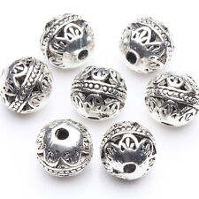 8mm 10/20 Tibetan Silver Plated Round Loose Spacer Beads Jewelry Findings DIY