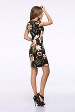 Women Printing Style Spring Summer Sleeveless Pencil Mini Dress NR906