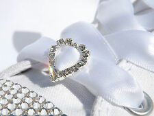 Crystal Heart Shoe Charms for your Rhinestone Customised White Sparkly Trainers