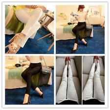 New Women Casual Slim Fit Stretchable Lace Flower Leggings Skinny Tight Pants
