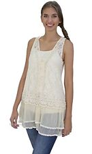 Pretty Angel Clothing Lady Chantal Victorian Lace Two Piece Tunic Caramel 66565
