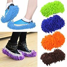 1 Pair Home Mop Sweep Floor Cleaning Duster Cloth Housework Soft Slipper XP