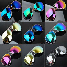 Unisex Women Men Vintage Retro Fashion Mirror Lens Sunglasses Glasses WU