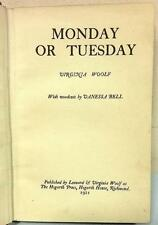 Monday or Tuesday, Woodcuts by Vanessa Bell, First Edition, 1921, WOOLF