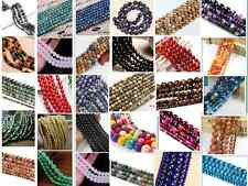 New Wholesale 4mm 6mm 8mm 10mm Lot Natural Gemstone Round Spacer Loose Beads