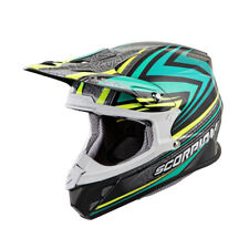 Scorpion Adult Teal/Black/Grey VX-R70 Barstow ECE/DOT Off-Road Dirt Bike Helmet