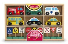 Wooden Vehicles & Traffic Sign - Vehicle Toy by Melissa & Doug (3177)