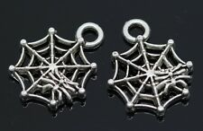 Hot 60/300pcs Tibetan Silver spider's web Alloy Jewelry Charms Pendant 17x14mm F