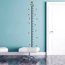 Urijk Under Sea Animal Heart Height Measure Decal Wall Sticker Baby Growth Chart