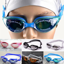 Adults Adjustable* Eye Protect Sport Non-Fogging Anti UV Swimming Goggle Glasses