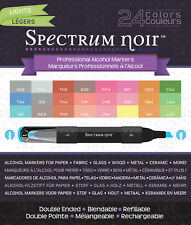 Spectrum Noir Alcohol Markers 24/Pkg-Lights