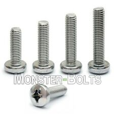 6mm (M6) - Stainless Steel Phillips Pan Head Machine Screws DIN 7985A 18-8 / A2